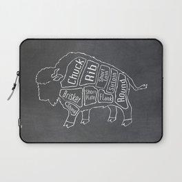 Buffalo Butcher Diagram (Meat Chart) Laptop Sleeve