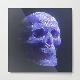 Skull react Metal Print
