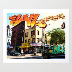 Living in Loisaida - New York Art Print