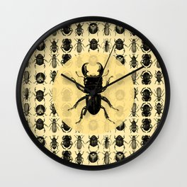 Bugs Pattern Wall Clock