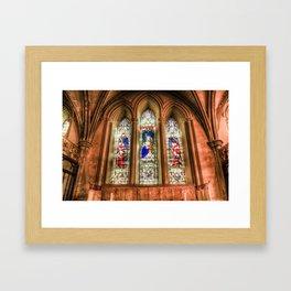 Stained Glass Windows Framed Art Print