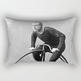 Velocipede racer Rectangular Pillow