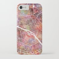 paris map iPhone & iPod Cases featuring Paris map by MapMapMaps.Watercolors