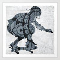 skate Art Prints featuring Skate by mayrarosito
