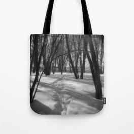 Deer Tracks Tote Bag