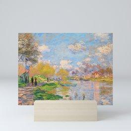 12,000pixel-500dpi - Claude Monet - Spring by the Seine - Digital Remastered Edition Mini Art Print