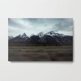 Driving through Wyoming Metal Print