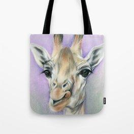 Giraffe Portrait with Beautiful Eyes Tote Bag