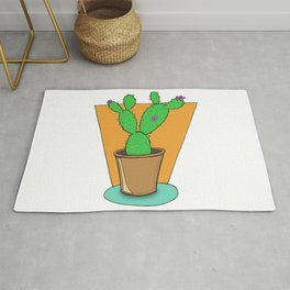 Cacti with Flowers Rug