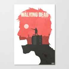 The Walking Dead - Season 3 Poster Canvas Print