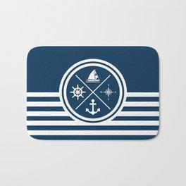 Sailing symbols Bath Mat