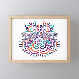 Colorful Fly Framed Mini Art Print