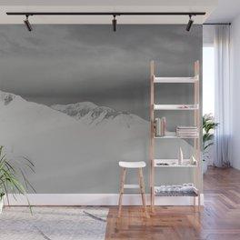 white mountain Wall Mural