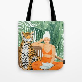 Jungle Vacay #painting #illustration Tote Bag