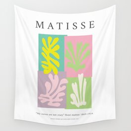 Matisse inspired art print, Exhibition wall art, Matisse curves print, Colorful wall art, Spring wall art, Matisse cut out Wall Tapestry