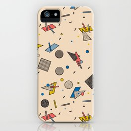 Memphis Inspired Pattern 9 iPhone Case