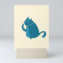friendly cat Mini Art Print