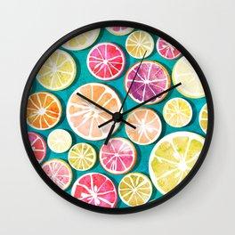 Citrus bath Wall Clock
