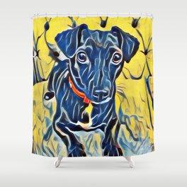Pop Art Jack Russell Shower Curtain