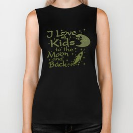 I Love My Kids to the Moon and Back Biker Tank