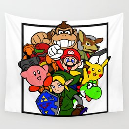 Super Smash 64 Roster Wall Tapestry
