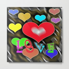 hearts of love Metal Print