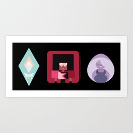 The Crystal Gems Art Print