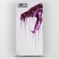 Painted Skull Purple iPhone 6 Plus Slim Case