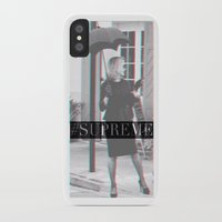 jessica lange iPhone & iPod Cases featuring Jessica Lange Fiona Goode Supreme by NameGame