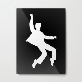 White Elvis Metal Print