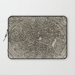 Vintage Map of Bruges Belgium (1612) Laptop Sleeve