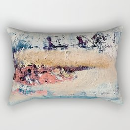 Artemis [2]: a gorgeous minimal abstract piece in purples blues and gold by Alyssa Hamilton Art Rectangular Pillow