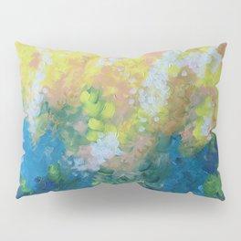Blue Yellow Criss Cross Pillow Sham
