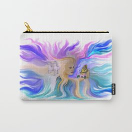 Woman Butterfly and Horse Carry-All Pouch