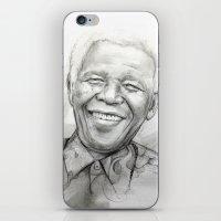 mandela iPhone & iPod Skins featuring Mandela by Tamara Patrick