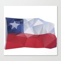 chile Canvas Prints featuring CHILE FLAG  by Favio Torres