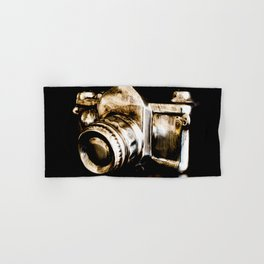 Candid Thoughts: A Modern Silver and Gold Camera Hand & Bath Towel