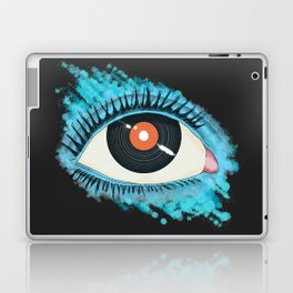 Musical vision: eye illustration with vinyl record for pupil Laptop & iPad Skin