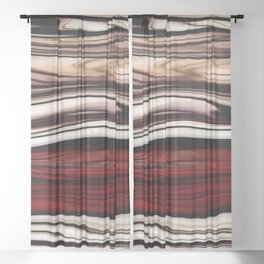 Polished Wood Sheer Curtain