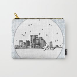 Minneapolis, Minnesota City Skyline Illustration Drawing Carry-All Pouch