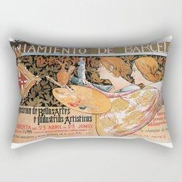 3ra. Exposición de Bellas Artes é Industrias Artísticas Rectangular Pillow