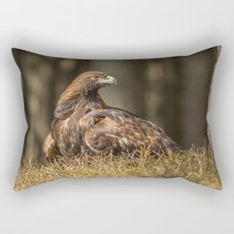 Grounded Eagle Rectangular Pillow