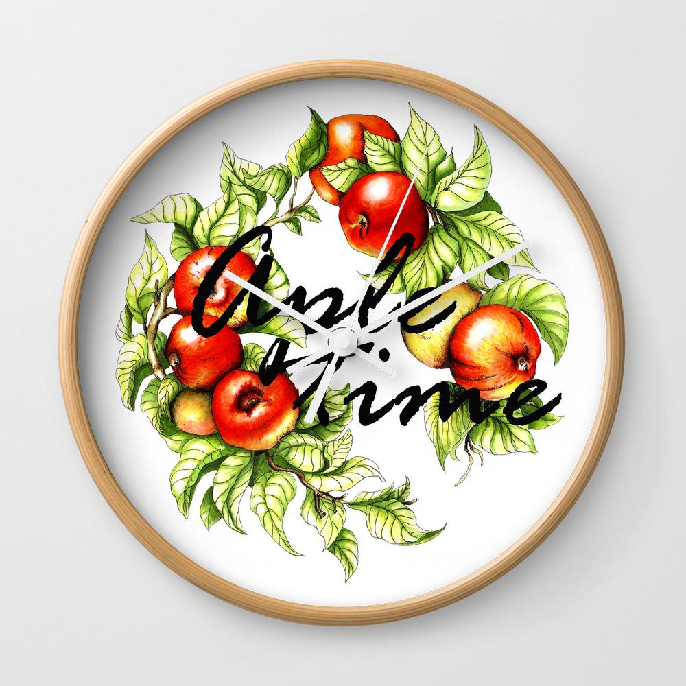 Aple Time Wall Clock by Kazakirina CLK8015316