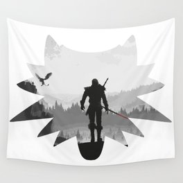 The white wolf Wall Tapestry