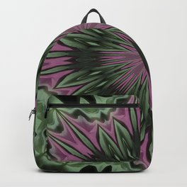 Rose and Jade Floral Fantasy Mandala Pattern Backpack