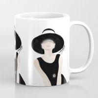 tiffany Mugs featuring Breakfast Tiffany by carotoki art and love