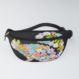 Squirrel Flower Fanny Pack