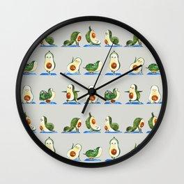 Avocado Yoga Watercolor Wall Clock