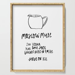 Moscow Mule Cocktail Serving Tray