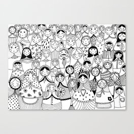 Matrioshka doodle Canvas Print